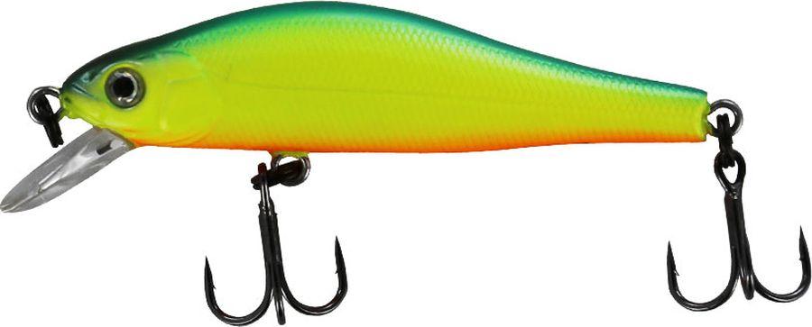 Воблер Tsuribito Jerkbait SP-SR, цвет: зеленый, салатовый, красный (059), длина 50 мм, вес 3 г24545Многим уже знаком 8 сантиметровый брат этого воблера, который очень эффективно ловит щуку. Младший брат размером 5 сантиметров отлично привлекает небольшую щуку, и в то же время, прекрасно соблазняет окуня, язя и голавля, что позволяет одной приманкой облавливать практически все небольшие водоёмы.Какая приманка для спиннинга лучше. Статья OZON Гид