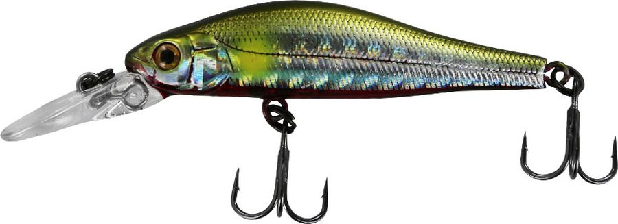 Воблер Tsuribito Jerkbait SP-DR, цвет: золотой, синий (062), длина 50 мм, вес 3 г
