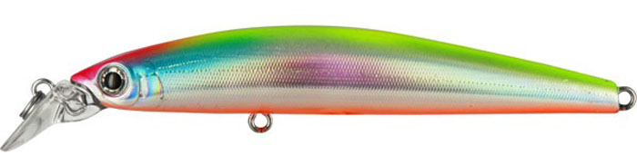 Воблер Tsuribito Minnow S, цвет: серебристый, оранжевый (057), длина 95 мм, вес 9,6 г29064Minnow 95S - отличный воблер для ловли на небольших глубинах и над зарослями травы, где часто охотится щука и другие хищники. Благодаря системе дальнего заброса с магнитом воблер очень хорошо летит при забросе, и устойчиво играет даже при проводке с рывками. Мощные тройники надёжно засекают рыбу при поклёвке. Все эти качества вместе с реалистичной игрой делают этот воблер отличным орудием для ловли крупного хищника.