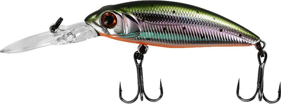"Воблер Tsuribito ""Deep Shad F"", цвет: серебристый, зеленый (055), длина 55 мм, вес 5,4 г"