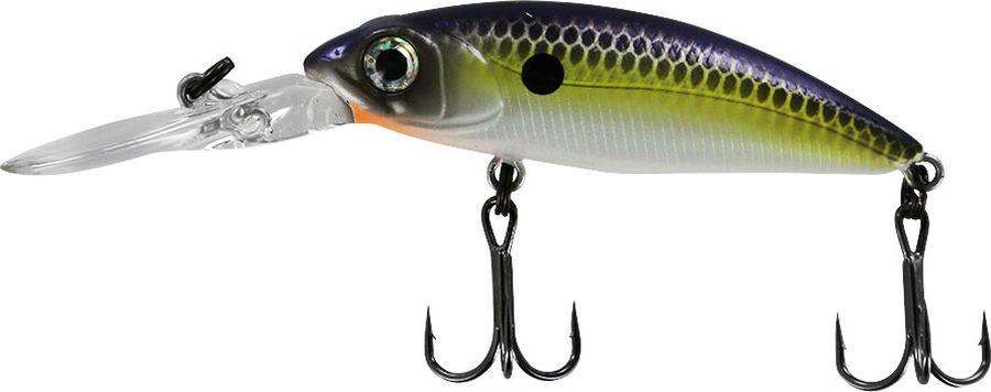 Воблер Tsuribito Deep Shad F, цвет: лимонный, серый (079), длина 55 мм, вес 5,4 г34506Серия воблеров Deep Shad предназначена для ловли хищных видов рыб на мелководных бровках. Игра воблера настолько отчетливая, что вибрация передается на хлыст удилища. Несмотря на то, что воблер имеет собственную игру, при анимации рывковой проводкой с паузами этот воблер не оставит шансов окуню и щуке.Какая приманка для спиннинга лучше. Статья OZON Гид