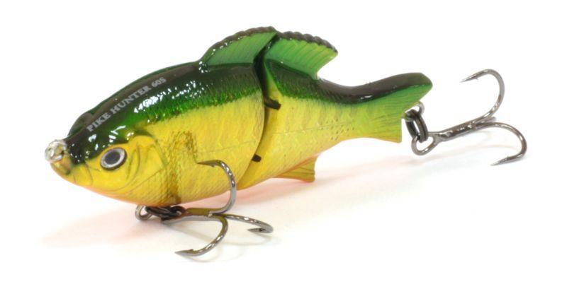 Воблер Tsuribito Pike Hunter S, цвет: зеленый, серый, желтый (036), длина 95 мм, вес 22,5 г