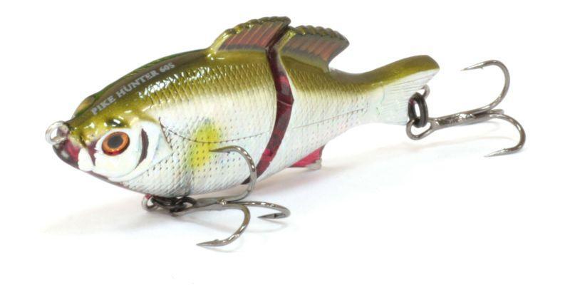 Воблер Tsuribito Pike Hunter S, цвет: золотой, синий (062), длина 95 мм, вес 22,5 г