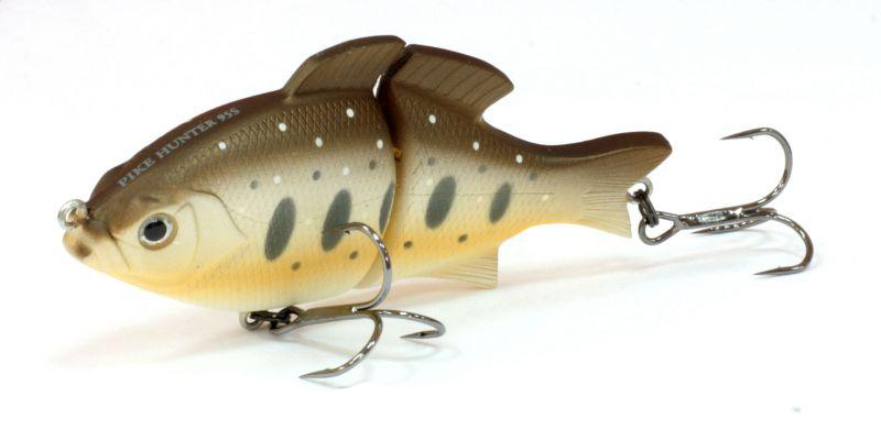 Воблер Tsuribito Pike Hunter S, цвет: темно-коричневый, бежевый (090), длина 95 мм, вес 22,5 г
