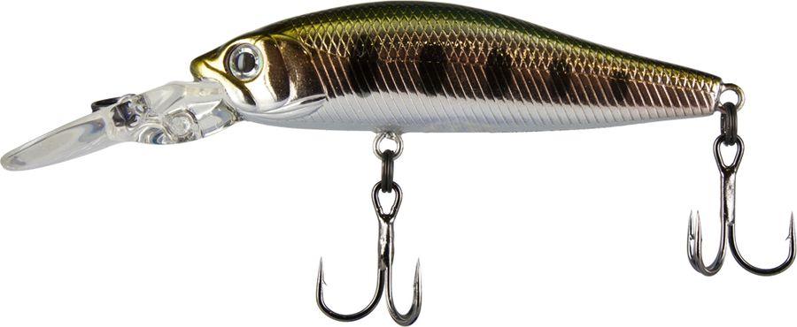 Воблер Tsuribito Deep Diver Minnow F, цвет: серебристый, золотой (053), длина 60 мм, вес 4,5 г