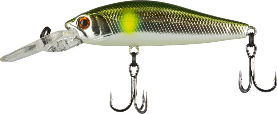 Воблер Tsuribito Deep Diver Minnow S, цвет: серебристый, золотой (009), длина 60 мм, вес 6,2 г fishing floating minnow bass pike trout jointed minnow swimbait 130mm 39g