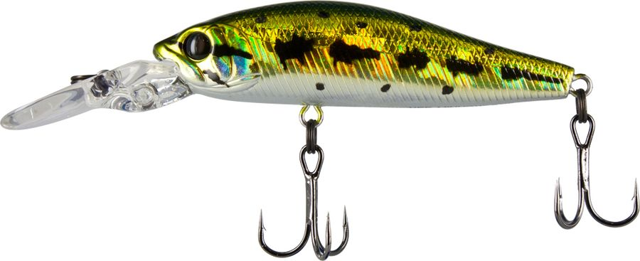 Воблер Tsuribito Deep Diver Minnow S, цвет: золотой, белый (013), длина 60 мм, вес 6,2 г fishing floating minnow bass pike trout jointed minnow swimbait 130mm 39g