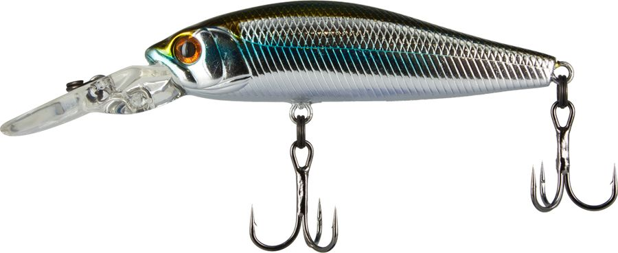 Воблер Tsuribito Deep Diver Minnow S, цвет: серебристый, золотой (035), длина 60 мм, вес 6,2 г fishing floating minnow bass pike trout jointed minnow swimbait 130mm 39g