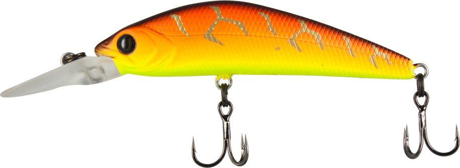 Воблер Tsuribito Live Minnow S, цвет: желтый, оранжевый (029), длина 55 мм, вес 6 г воблер tsuribito baby shark f цвет 029 70 мм