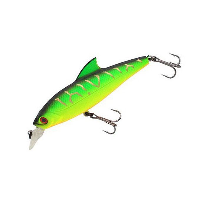 Воблер Tsuribito Baby Shark SP, цвет: зеленый (028), длина 70 мм, вес 6,3 г45343Воблер предназначен для ловли окуня и щуки на мелководных участках. Используется при равномерных, рывковых и комбинированных проводках. Приманка великолепно держит течение благодаря изящному спинному плавнику, что позволяет использовать ее при ловле как вниз, так и вверх по течению. Воблер обладает положительной плавучестью, что при неагрессивной проводке позволяет использовать его на мелководье, а так же при проводке на участках с подводной растительностью, где часто таится прибрежный хищник.