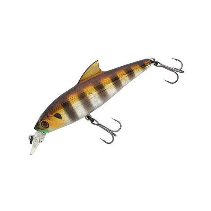 Воблер Tsuribito Baby Shark SP, цвет: серебистый, золотой (007), длина 70 мм, вес 6,3 г45352Воблер предназначен для ловли окуня и щуки на мелководных участках. Используется при равномерных, рывковых и комбинированных проводках. Приманка великолепно держит течение благодаря изящному спинному плавнику, что позволяет использовать ее при ловле как вниз, так и вверх по течению. Воблер обладает положительной плавучестью, что при неагрессивной проводке позволяет использовать его на мелководье, а также при проводке на участках с подводной растительностью, где часто таится прибрежный хищник.