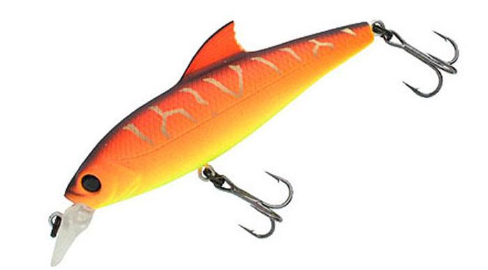 Воблер Tsuribito Baby Shark F, цвет: желтый, оранжевый (029), длина 70 мм, вес 5,5 г45362Воблер предназначен для ловли окуня и щуки на мелководных участках. Используется при равномерных, рывковых и комбинированных проводках. Приманка великолепно держит течение благодаря изящному спинному плавнику, что позволяет использовать ее при ловле как вниз, так и вверх по течению. Воблер обладает положительной плавучестью, что при неагрессивной проводке позволяет использовать его на мелководье, а также при проводке на участках с подводной растительностью, где часто таится прибрежный хищник.