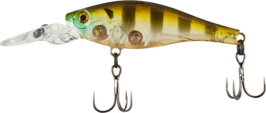 Воблер Tsuribito Deep Trap F-MR, цвет: желтый, черный (008), длина 45 мм, вес 3,5 г