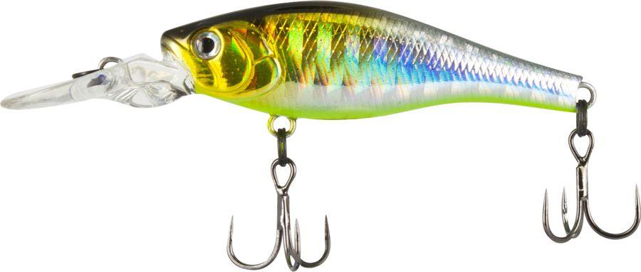 Воблер Tsuribito Deep Trap F-MR, цвет: салатовый, серый (099), длина 45 мм, вес 3,5 г