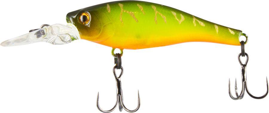 Воблер Tsuribito Deep Trap F-MR, цвет: лимонный, оранжевый (078), длина 45 мм, вес 3,5 г46801Окуневый воблер для ловли на поливах рек, озер и водохранилищ. Реалистичная игра воблера с частыми колебаниями привлекает окуня с довольной большого расстояния. Приманка также хорошо «держит течение», что позволяет ловить на реках даже с довольно сильным течением.