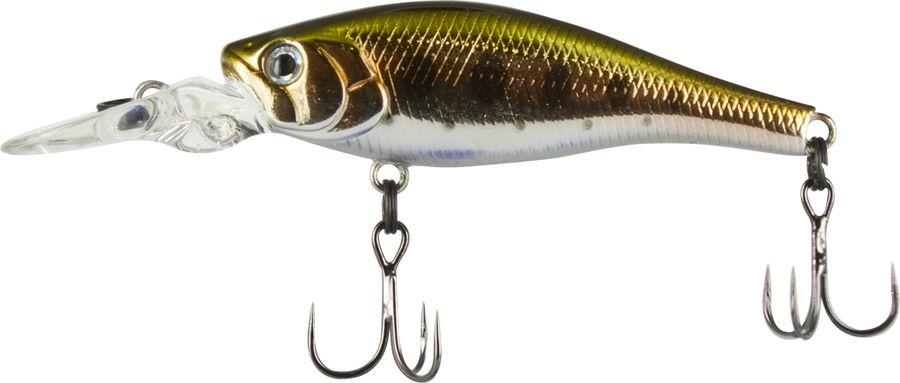 Воблер Tsuribito Deep Trap F-MR, цвет: серебристый, золотой (053), длина 45 мм, вес 3,5 г