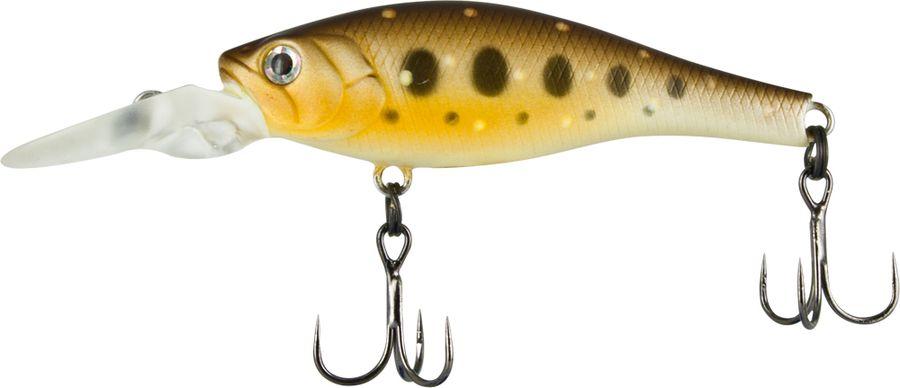 Воблер Tsuribito Deep Trap F-MR, цвет: темно-коричневый, бежевый (090), длина 45 мм, вес 3,5 г