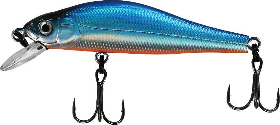 Воблер Tsuribito Jerkbait F-SR, цвет: голубой (100), длина 50 мм, вес 3 г50422Многим уже знаком 8 сантиметровый брат этого воблера, который очень эффективно ловит щуку. Младший брат размером 5 сантиметров отлично привлекает небольшую щуку, и в то же время, прекрасно соблазняет окуня, язя и голавля, что позволяет одной приманкой облавливать практически все небольшие водоёмы.Какая приманка для спиннинга лучше. Статья OZON Гид