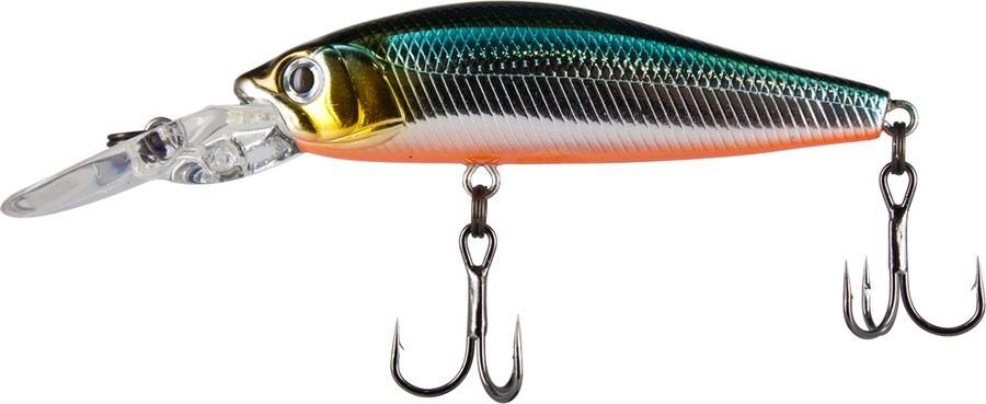 Воблер Tsuribito Deep Diver Minnow SP, цвет: бирюзовый, серый (504), длина 60 мм, вес 5,3 г