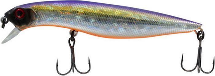Воблер Tsuribito Dead Minnow SS, цвет: фиолетовый, желтый, серый (072), длина 110 мм, вес 12 г70335Классический воблер, предназначенный для ловли хищников в прибрежной зоне. Наиболее эффективно приманка проявляет себя при заглублении в воде до 30 сантиметров. Обладает хорошей игрой при проводках, привлекая внимание рыбы. Воблер подходит для выполнения точных забросов на дальние расстояния. В конструкции применены современные мощные тройники с острой заточкой, которые способствуют надежной подсечке рыбы.Какая приманка для спиннинга лучше. Статья OZON Гид