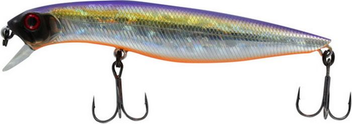 Воблер Tsuribito Dead Minnow SS, цвет: фиолетовый, желтый, серый (072), длина 110 мм, вес 19,1 г