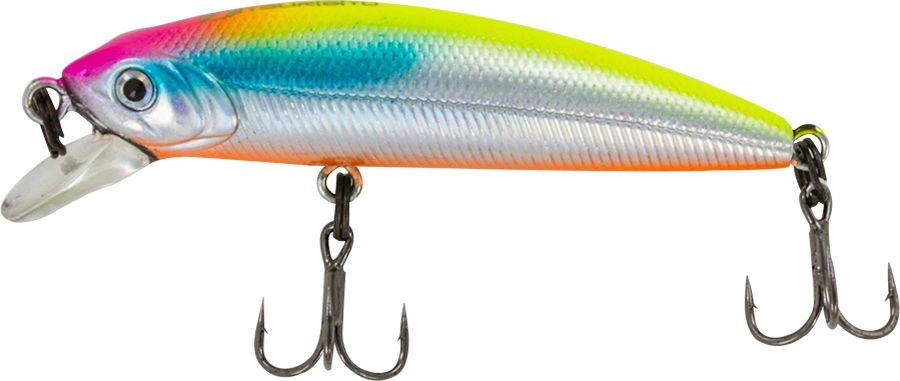 Воблер Tsuribito Minnow SS, цвет: серебристый, оранжевый (057), длина 50 мм, вес 4,5 г