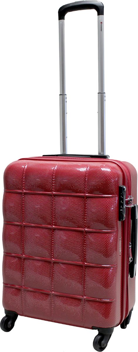 Чемодан на колесах Echоlac, цвет: красный, 44 л. 005-20PC чемодан samsonite чемодан 80 см pro dlx 4