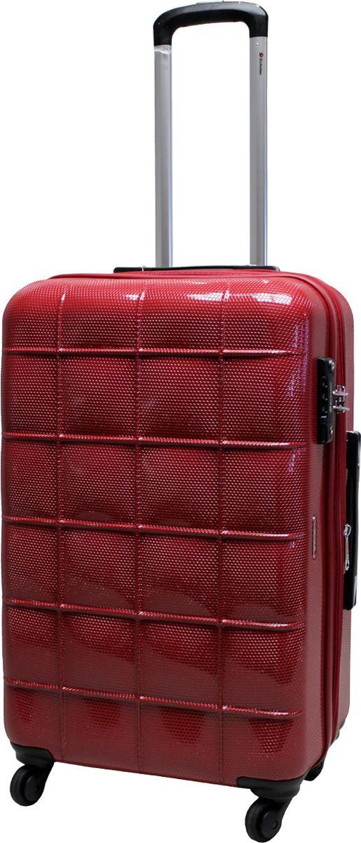 Чемодан на колесах Echоlac, цвет: красный, 77 л. 005-24PC чемодан samsonite чемодан 80 см pro dlx 4