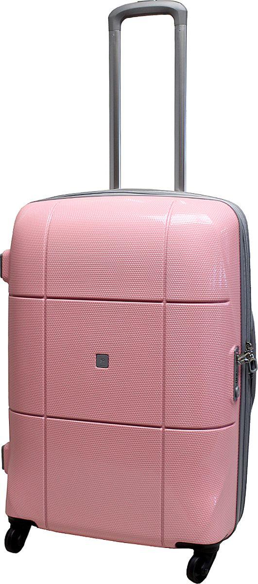 Чемодан на колесах Echоlac, цвет: розовый, 75 л. 080-24PCS чемодан на колесах echоlac цвет синий 77 л 005 24pc