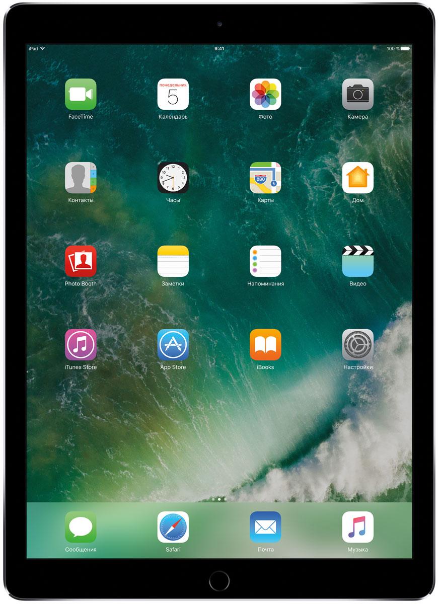 Apple iPad Pro 12.9 Wi-Fi 64GB, Space GreyMQDA2RU/AКакая бы задача перед вами ни стояла, iPad Pro готов за неё взяться. Он мощнее многих ноутбуков и при этом гораздо удобнее. Дисплей Retina получил впечатляющие возможности и стал потрясающе быстро отзываться на касания.А ещё на устройстве установлена iOS - самая передовая мобильная операционная система в мире. У iPad Pro есть всё, что вам нужно от современного компьютера. И даже больше.Multi-Touch на iPad всегда производил большое впечатление. А новый дисплей Retina поднимает планку ещё выше. Он не только ярче и отражает меньше бликов. Благодаря новой технологии ProMotion существенно выросла и скорость его отклика. Поэтому неважно, что вы делаете - пролистываете страницу в Safari или играете в ресурсоёмкую 3D-игру, - iPad Pro мгновенно отзывается на каждое касание.Дисплей Retina на новом iPad Pro работает на базе технологии ProMotion, которая поддерживает частоту обновления в 120 Гц. И это невероятно красиво. Фильмы и видео смотрятся просто потрясающе, графика в играх буквально летает - без артефактов и сбоев. А при касании дисплея пальцами или Apple Pencil устройство реагирует молниеносно.Процессор A10X Fusion с 64-битной архитектурой и шестью ядрами обеспечивает вас потрясающей мощью. Вы сможете на ходу обрабатывать видеоролики с разрешением 4K. Делать рендеринг сложных 3D-моделей. Открывать большие документы и добавлять свои зарисовки. Всё очень быстро и легко. При этом iPad Pro по-прежнему будет работать без подзарядки целый день.iOS раскрывает способности iPad, делая его ещё более удобным и полезным устройством. Новые функции системы помогают по-другому взглянуть на решение привычных задач. Многое можно настроить на свой вкус. Так что теперь у вас есть все возможности для покорения новых высот.Невероятная производительность, передовой дисплей, две камеры, сверхскоростная беспроводная связь и аккумулятор на целый день работы - всё это умещается в тонком и изящном корпусе iPad Pro. Поэтому вы можете брать его с с