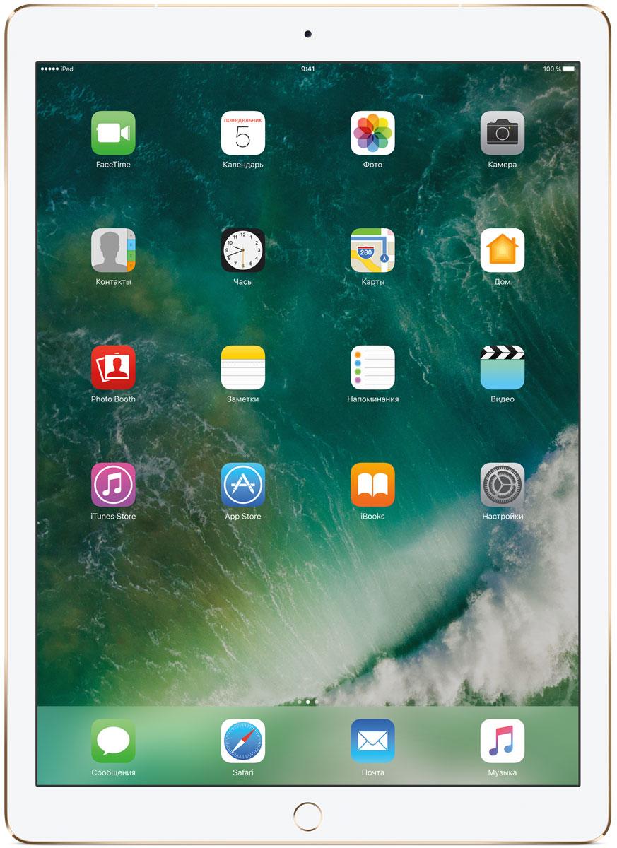 Apple iPad Pro 12.9 Wi-Fi + Cellular 512GB, GoldMPLL2RU/AКакая бы задача перед вами ни стояла, iPad Pro готов за неё взяться. Он мощнее многих ноутбуков и при этом гораздо удобнее. Дисплей Retina получил впечатляющие возможности и стал потрясающе быстро отзываться на касания.А ещё на устройстве установлена iOS - самая передовая мобильная операционная система в мире. У iPad Pro есть всё, что вам нужно от современного компьютера. И даже больше.Multi-Touch на iPad всегда производил большое впечатление. А новый дисплей Retina поднимает планку ещё выше. Он не только ярче и отражает меньше бликов. Благодаря новой технологии ProMotion существенно выросла и скорость его отклика. Поэтому неважно, что вы делаете - пролистываете страницу в Safari или играете в ресурсоёмкую 3D-игру, - iPad Pro мгновенно отзывается на каждое касание.Дисплей Retina на новом iPad Pro работает на базе технологии ProMotion, которая поддерживает частоту обновления в 120 Гц. И это невероятно красиво. Фильмы и видео смотрятся просто потрясающе, графика в играх буквально летает - без артефактов и сбоев. А при касании дисплея пальцами или Apple Pencil устройство реагирует молниеносно.Процессор A10X Fusion с 64-битной архитектурой и шестью ядрами обеспечивает вас потрясающей мощью. Вы сможете на ходу обрабатывать видеоролики с разрешением 4K. Делать рендеринг сложных 3D-моделей. Открывать большие документы и добавлять свои зарисовки. Всё очень быстро и легко. При этом iPad Pro по-прежнему будет работать без подзарядки целый день.iOS раскрывает способности iPad, делая его ещё более удобным и полезным устройством. Новые функции системы помогают по-другому взглянуть на решение привычных задач. Многое можно настроить на свой вкус. Так что теперь у вас есть все возможности для покорения новых высот.Невероятная производительность, передовой дисплей, две камеры, сверхскоростная беспроводная связь и аккумулятор на целый день работы - всё это умещается в тонком и изящном корпусе iPad Pro. Поэтому вы можете брать е