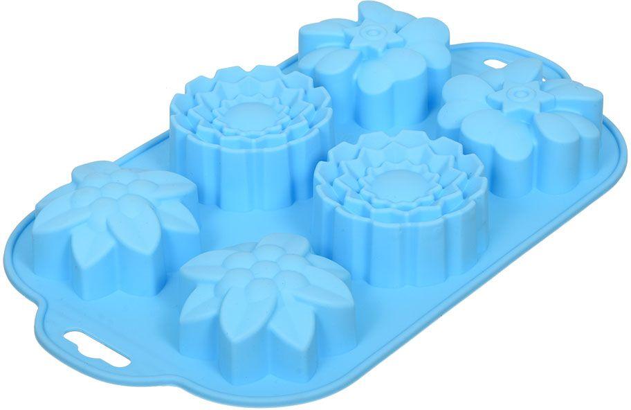 Форма для запекания Marmiton Цветочки, силикон, 29 х 17 см, 6 ячеек17203Силиконовая форма Marmiton Цветочки предназначена для приготовления выпечки, мармелада, желе. Силикон устойчив к фруктовым кислотам, к воздействию низких и высоких температур. Не взаимодействует с продуктами питания и не впитывает запахи как при нагревании, так и при заморозке. Благодаря пластичности позволяет аккуратно вынимать изделия из формы. Обладает естественным антипригарным свойством.