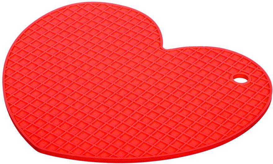 Подставка термостойкая Marmiton Сердце, силикон, 17 х 15 см17207Термостойкая подставка Marmiton Сердце выполнена из силикона. Этот материал устойчив к фруктовым кислотам, к воздействию низких и высоких температур. Обладает естественным антипригарным свойством. Можно мыть и сушить в посудомоечной машине.