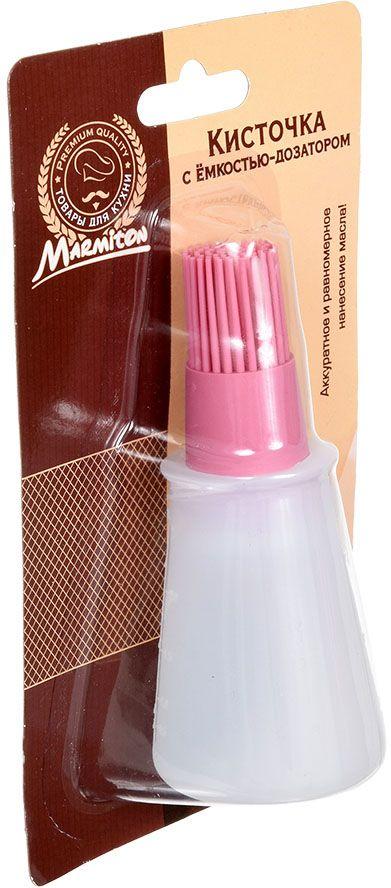 Кисточка кулинарная Marmiton, с емкостью-дозатором, цвет: розовый, 11,5 х 5 х 5 см17208Силиконовая кисточка Marmiton оснащена емкостью-дозатором из пластика. Дозатор помогаетбыстро, равномерно и аккуратно нанести необходимое количество масла, соуса или маринада навыпечку, сковороду или противень.Кисть проста в использовании - резервуар легко наполняется, а его содержимое порционноподается на кисть легким нажатии.Объем дозатора: 70 мл.Размер изделия (с дозатором): 5 х 5 х 11,5 см.