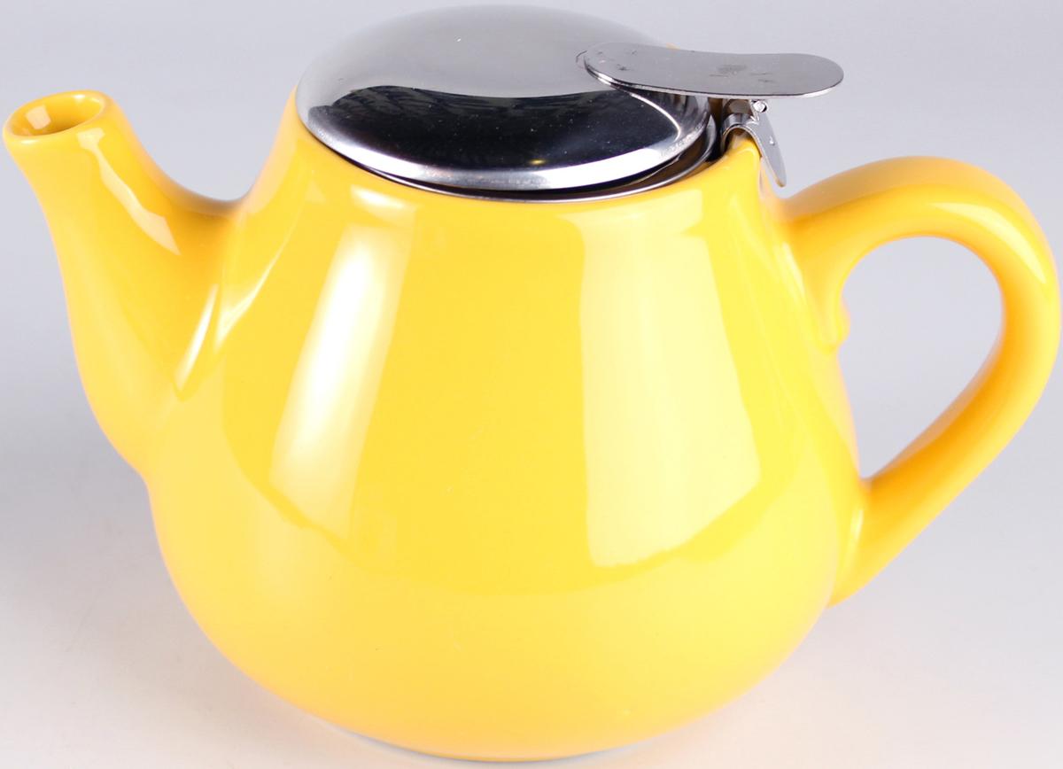 Чайник заварочный Elrington Глазурь, с фильтром, цвет: желтый, 600 мл. FJH-10008-A125FJH-10008-A125