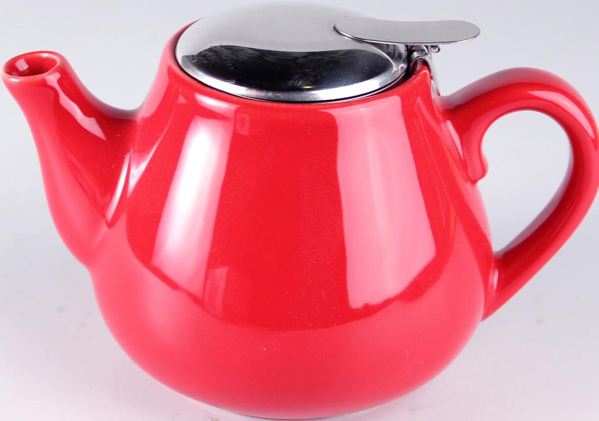 Чайник заварочный Elrington Глазурь, с фильтром, цвет: красный, 600 мл. FJH-10008-A76FJH-10008-A76