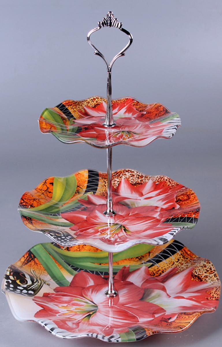 Фруктовница Olaff Цветы, трехъярусная. ZY-MD-SCYB-794 фруктовница olaff цветы 2 яруса zy md ecyb 794