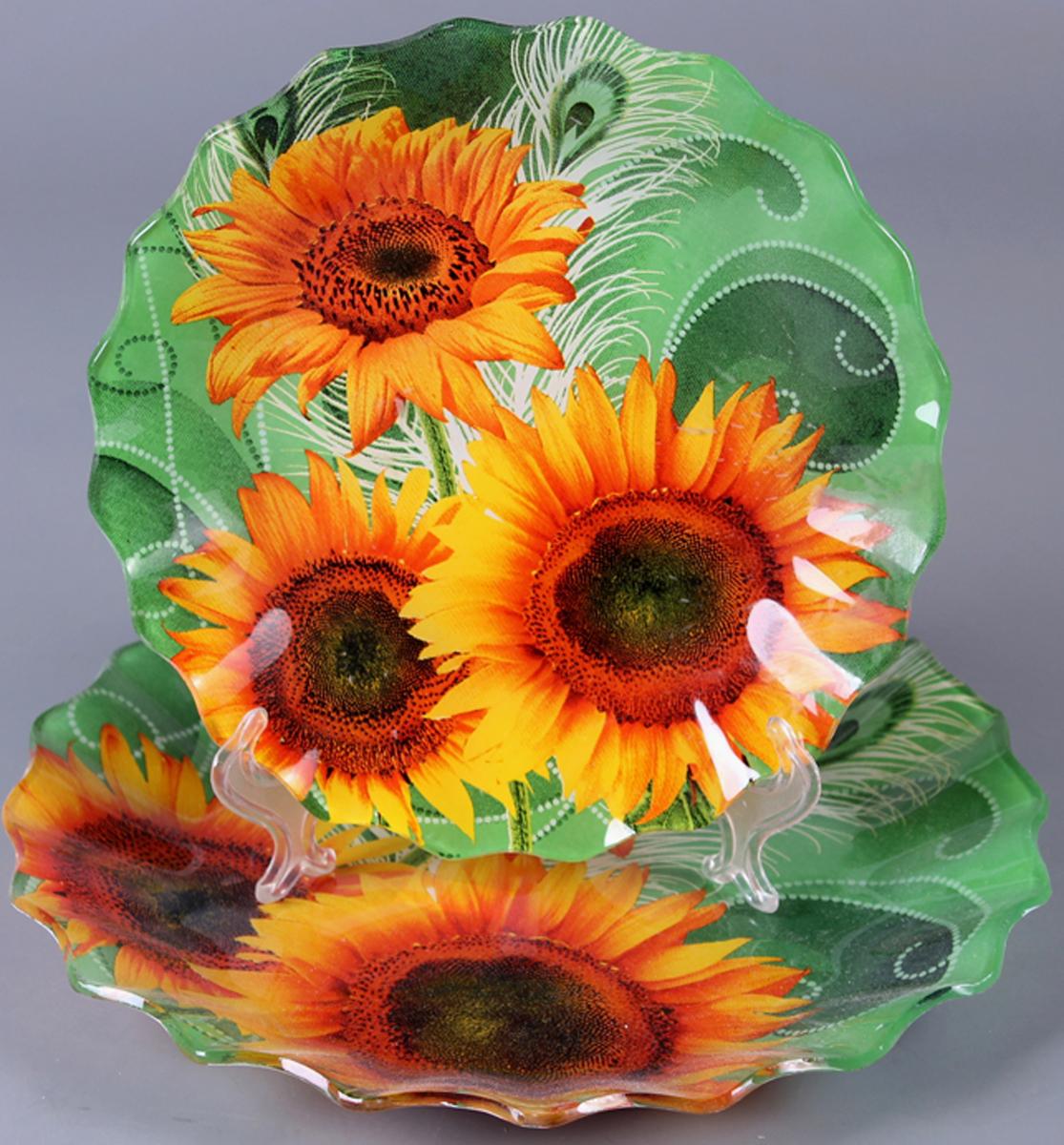 Набор блюд Olaff Цветы, 2 предмета. ZY-MD-TEXR-787 фруктовница olaff цветы 2 яруса zy md ecyb 794