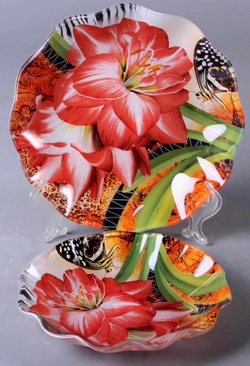 Набор салатников Olaff Цветы, 2 шт. ZY-MD-TEYBW-794ZY-MD-TEYBW-794Набор Olaff Цветы состоит из двух круглых салатников разных размеров. Изделия, изготовленные из высококачественного стекла, оформлены рельефным краем и красочным изображением цветов.Такие салатники сочетают в себе изысканный дизайн с максимальной функциональностью. Оригинальность оформления придется по вкусу тем, кто предпочитает утонченность и изящность. Набор салатников Olaff Цветы украсит сервировку вашего стола и подчеркнет прекрасный вкус хозяйки, а также станет отличным подарком.Диаметр салатника (по верхнему краю): 14 см; 18 см.