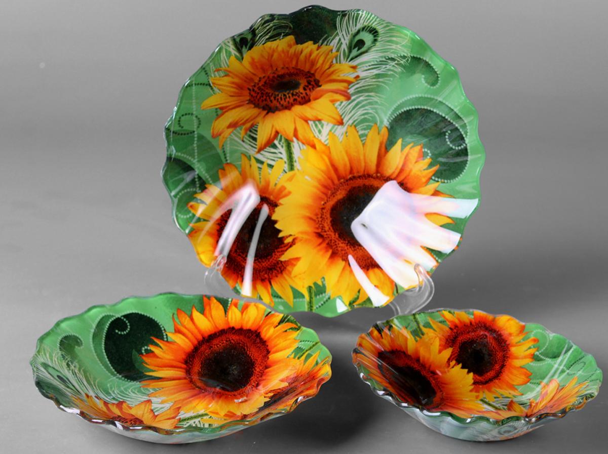 Набор салатников Olaff Цветы, 3 предмета. ZY-MD-TSXRW-787 фруктовница olaff цветы 2 яруса zy md ecyb 794