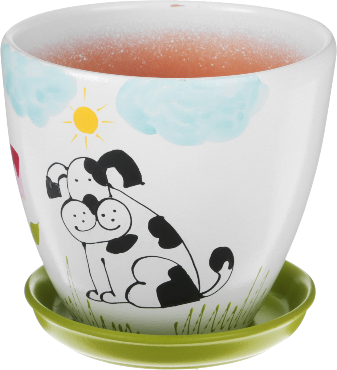 Горшок цветочный Engard Собака,  поддоном, 2,4 л