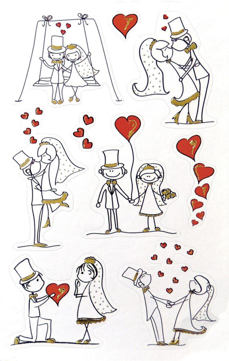 """Наклейки Z-Design от Avery Zweckform """"Свадьба"""" вдохновляют на яркие идеи! Яркие цвета, качественная бумага, необычный дизайн не оставят равнодушными всех любителей самоклеящихся стикеров. Наклейки """"Свадьба"""" идеальны для декорирования и рукоделия. Влюбленные фигурки со свадебной символикой украсят ваше поздравление или подарок.  В комплекте 9 наклеек."""