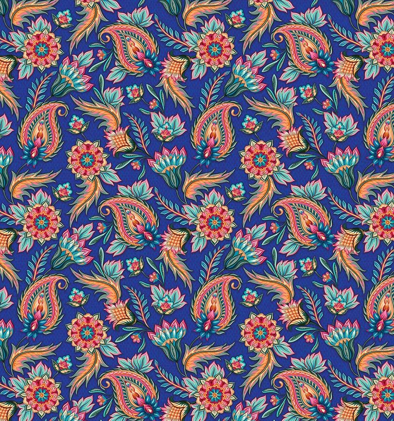 Упаковочная бумага Magic Home Турецкие огурцы на синем, мелованная, 100 х 70 см бумага упаковочная magic home желтые тюльпаны мелованная 100 х 70 см