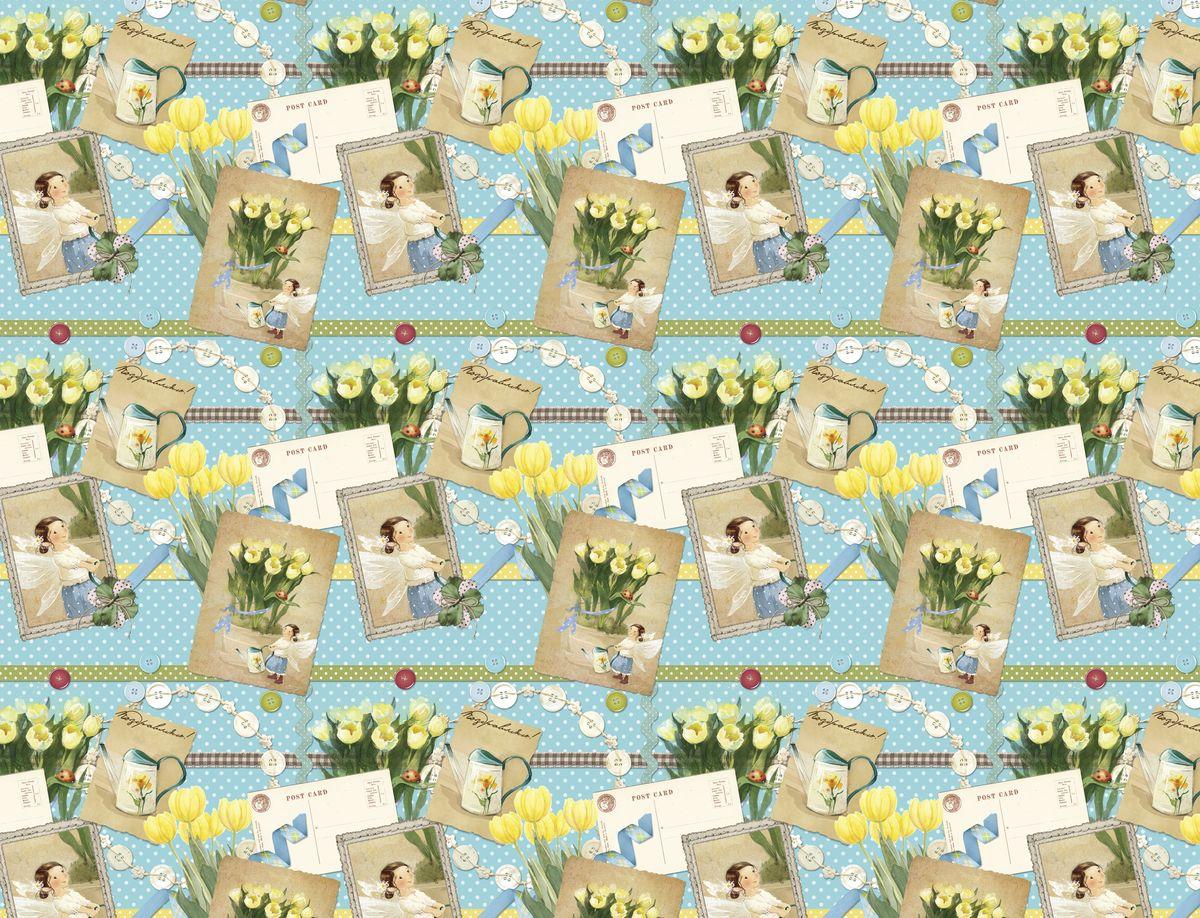 Упаковочная бумага Magic Home Желтые тюльпаны, мелованная, 100 х 70 см75202Упаковочная бумага для сувенирной продукции ЖЕЛТЫЕ ТЮЛЬПАНЫ от Magic Time - это стильный и практичный вариант упаковки подарка. Авторский дизайн, красочное изображение, тематический рисунок - все слагаемые оригинального оформления подарка. Окружите близких людей вниманием и заботой, эффектно вручив презент в нарядном, праздничном оформлении.