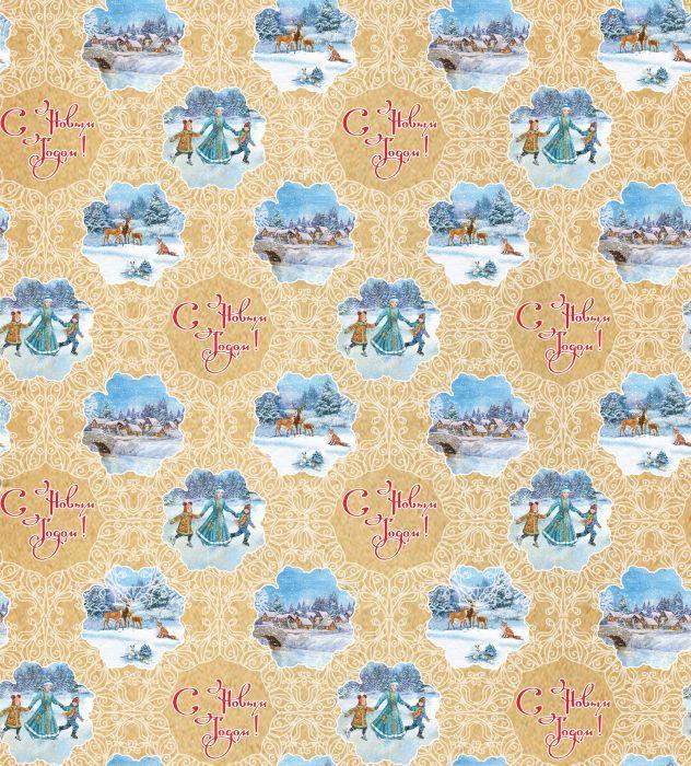Крафт бумага Magic Time Новогодний каток, немелованная, 100 х 70 см75210Крафт бумага для сувенирной продукции НОВОГОДНИЙ КАТОК от Magic Time - это стильный и практичный вариант упаковки подарка. Авторский дизайн, красочное изображение, тематический рисунок - все слагаемые оригинального оформления подарка. Окружите близких людей вниманием и заботой, эффектно вручив презент в нарядном, праздничном оформлении.