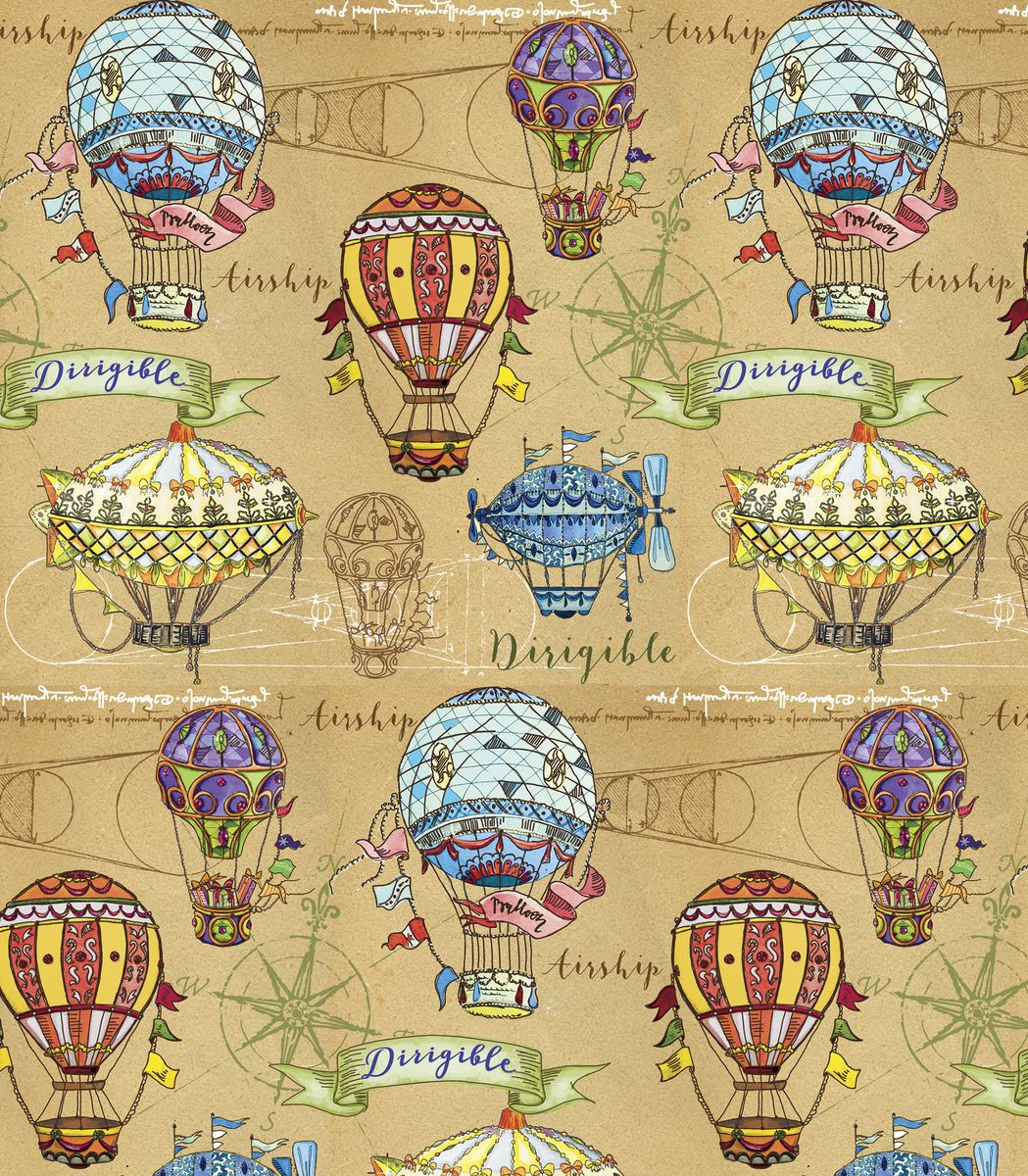 """Крафт бумага для сувенирной продукции """"Воздушные шары"""" от """"Magic Time"""" - это стильный и практичный вариант упаковки подарка. Авторский дизайн, красочное изображение, тематический рисунок - все слагаемые оригинального оформления подарка. Окружите близких людей вниманием и заботой, эффектно вручив презент в нарядном, праздничном оформлении. Размер: 100 х 70 см."""