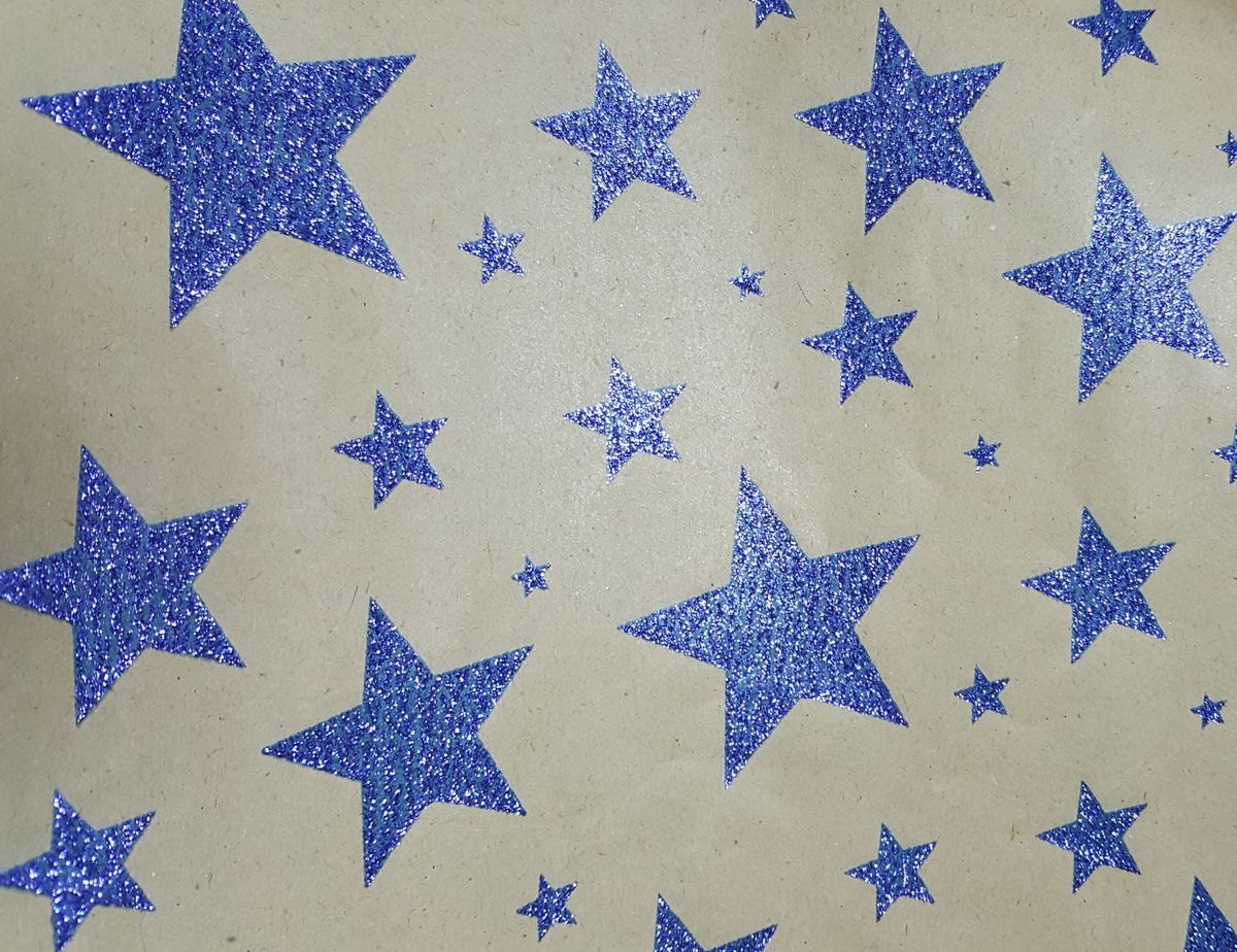 Крафт бумага Magic Time Синие звезды, немелованная, 100 х 70 см magic time алые звезды