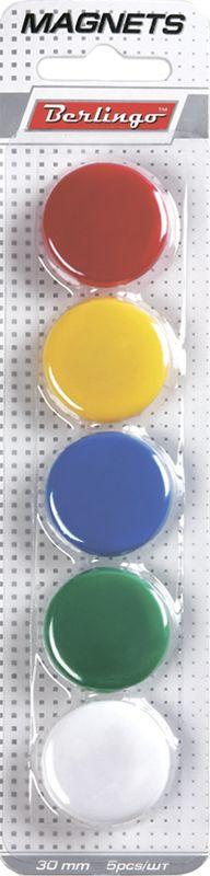 Berlingo Магнит для досок 3 см 5 штSMm_03010Для магнитно-маркерных досок. Блистерная упаковка с европодвесом.