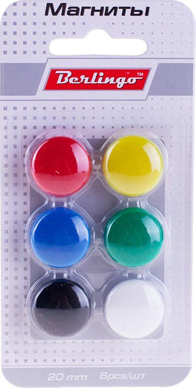 Berlingo Магнит для досок 2 см 6 штSMm_02010Магнит Berlingo предназначен для магнитно-маркерных досок. Блистерная упаковка с европодвесом.