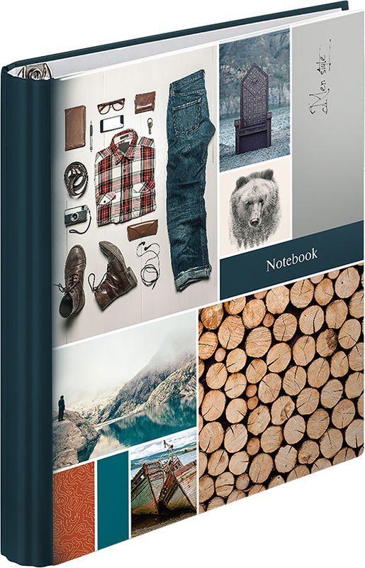ArtSpace Тетрадь на кольцах Мужской стиль 120 листов в клетку тетрадь flowers 120 листов на кольцах n813